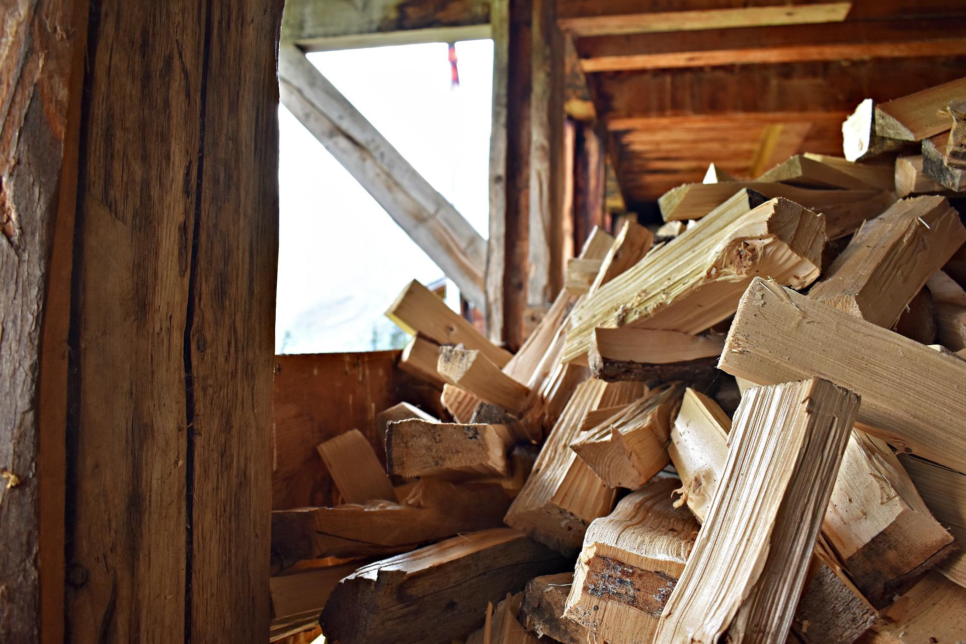 Holzspalter Hydraulik perfekte Holzstuecke