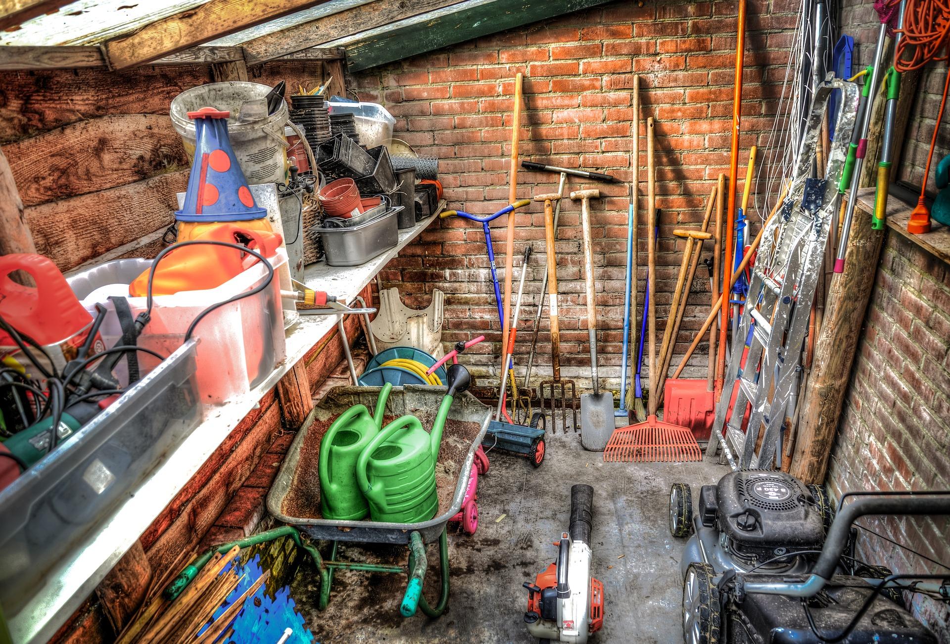 Schwerlastregal Ordnung in Werkstatt