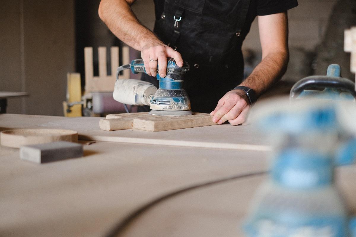 Poliermaschine Holzarbeiten
